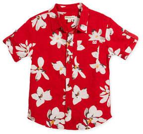 Appaman Short-Sleeve Button-Down Lilies Shirt, Size 2-10
