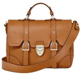 Aspinal of London Small Country Mollie Satchel In Smooth Tan