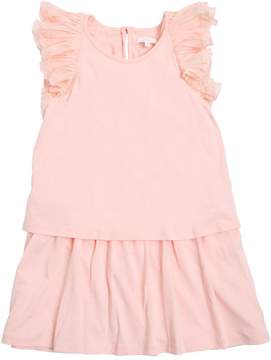 Chloé Layered Cotton Jersey Dress W/ Ruffles