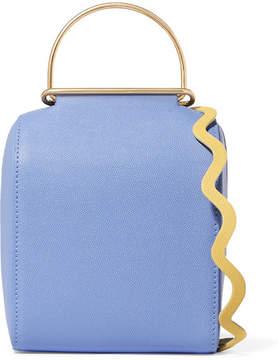 Roksanda Besa Textured-leather Shoulder Bag - Blue