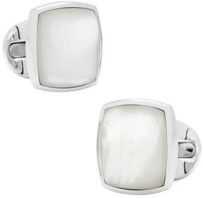 Ox & Bull Trading Co. Men's Classic Cushion Mother of Pearl Cufflinks