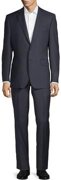 Saks Fifth Avenue BLACK Men's Mini Checkered Wool Suit