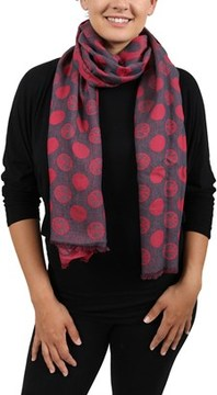 Moschino Dm1 D1205/1 Red/navy Blue Peace Scarf.