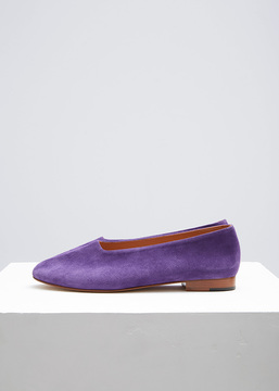 Martiniano Purple Suede Glove Flat