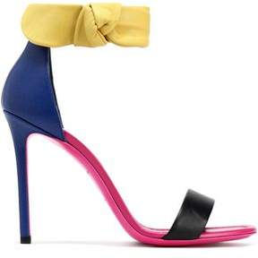 Emilio Pucci Color-Block Leather Sandals