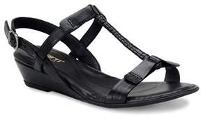 b.ø.c. Womens Douala Leather Open Toe Casual Platform Sandals.