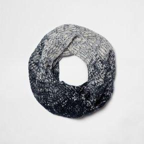 River Island Boys navy ombre rib knit snood
