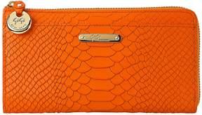 GiGi New York Women's Embossed Long Wallet