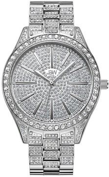 JBW Women's Cristal 0.12 ctw Diamond Stainless Steel Watch