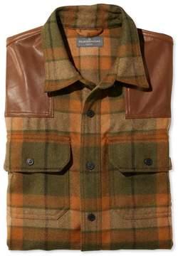 L.L. Bean L.L.Bean Signature Wool/Leather Shirt, Plaid