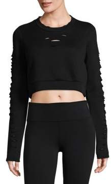 Alo Yoga Ripped Warrior Long-Sleeve Top