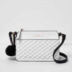 River Island Girls white scallop front crossbody bag