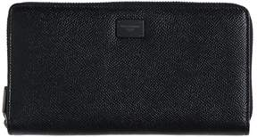 Dauphine Leather Zip Around Wallet