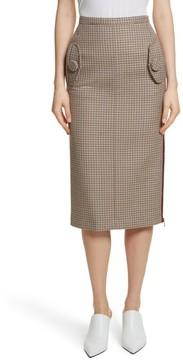 N°21 Women's N?21 Houndstooth Pencil Skirt