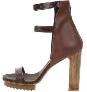 Brunello Cucinelli Embossed Platform Sandals