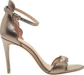 Rachel Zoe Ava Scalloped Ankle Strap Sandal in Metallic (Women's)