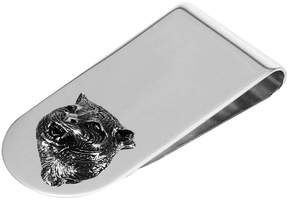 Gucci Wallet Moneyclip Silver Cat With Aureco Finishing