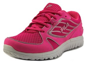 Fila Boomers Youth Round Toe Synthetic Pink Running Shoe.