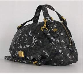 Marc by Marc Jacobs Grey, Black & White Printed Satchel