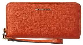 MICHAEL Michael Kors Mercer Leather Travel Continental Wallet. - ORANGE - STYLE