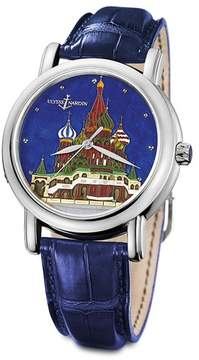 Ulysse Nardin Kremlin Automatic Blue Dial Blue Leather Men's Watch