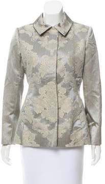Bill Blass Striped Button-Up Jacket