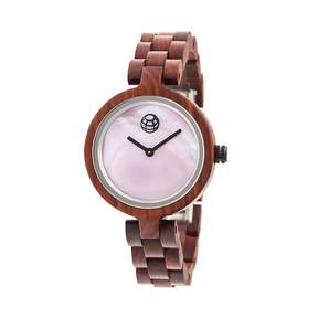 Earth Wisteria Pink Dial Ladies Watch
