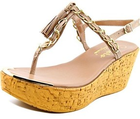 Callisto Tella Open Toe Synthetic Wedge Sandal.