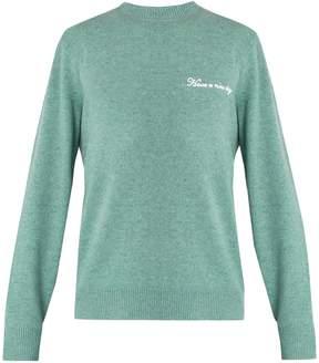 Rag & Bone Victor logo-embroidered wool-blend sweater