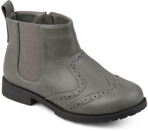 Journee Collection Gray Lennon Ankle Boot