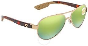Costa del Mar Loreto Green Mirror Aviator Sunglasses LR 64 OGMP