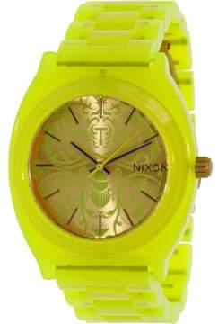 Nixon Time Teller Acetate Watch - Women's Neon Yellow/Beetlepoint, One Size