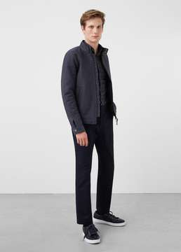 Mango Outlet Two-way zipper cotton-blend jacket