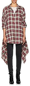 Faith Connexion Women's Plaid Cotton-Blend Shirt