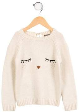 Emile et Ida Girls' Wool-Blend Sweater