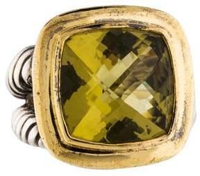 David Yurman Lemon Citrine Albion Cocktail Ring