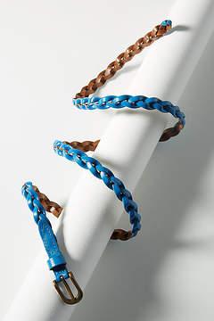 Anthropologie Frenchie Braided Skinny Belt