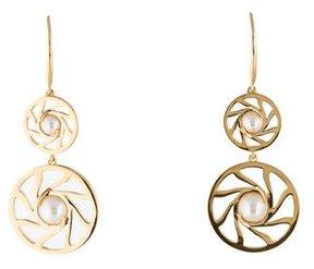 Catherine Malandrino Freshwater Cultured Pearl Swirl Drop Earrings