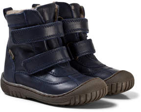 Bisgaard Blue Velcro Boots