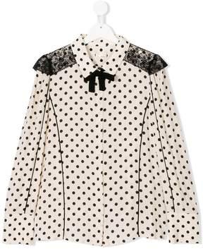Elisabetta Franchi La Mia Bambina TEEN polka dot print shirt