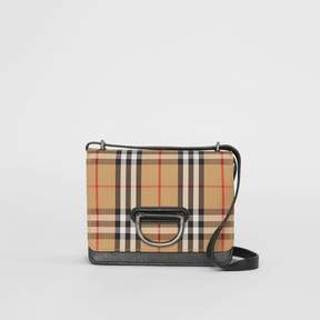 Burberry The Small Vintage Check and Leather D-ring Bag
