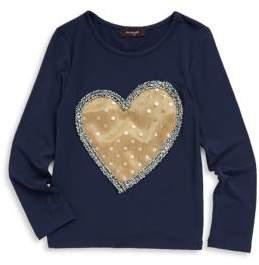 Imoga Toddler's, Little Girl's & Girl's Ariana Gold Heart Tee