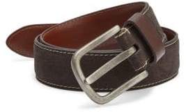 Saks Fifth Avenue COLLECTION Contrast Stitched Leather Belt