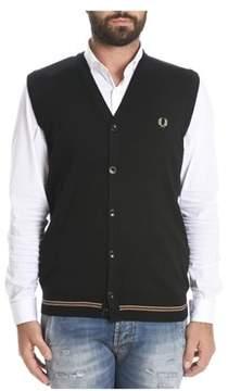 Fred Perry Men's Black Wool Vest.