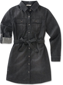 Calvin Klein Tie-Waist Cotton Shirtdress, Big Girls (7-16)