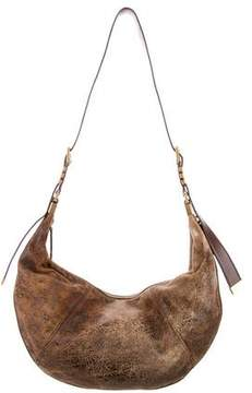 Michael Kors Distressed Suede Hobo - BROWN - STYLE