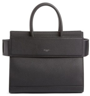 Givenchy Small Horizon Grained Calfskin Leather Tote - Black