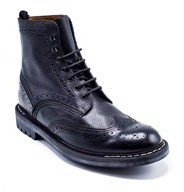 Givenchy Mens Commando Leather Runway Black Boots.