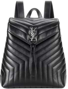 Saint Laurent Loulou Medium Monogram leather backpack - BLACK - STYLE