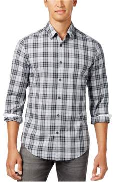 HUGO BOSS Mens Cotton Button Up Shirt Grey 2XL